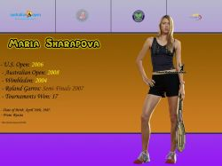 Maria Sharapova Titles Info